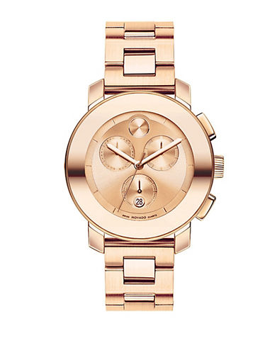 MOVADO BOLDUnisex Bold Rose Gold Stainless Steel Chronograph Watch
