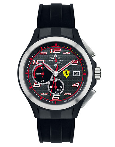 FERRARI Mens Lap Time Chronograph Black Watch