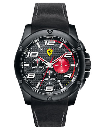 FERRARI Mens Paddock Chronograph Black Watch
