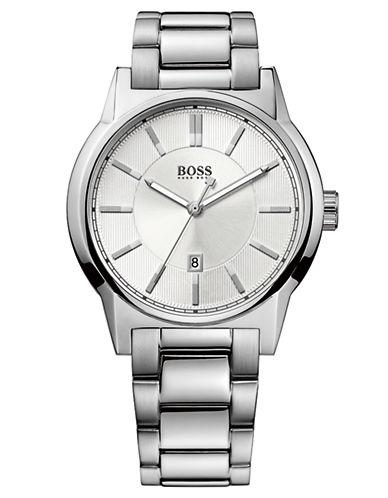 HUGO BOSSMens Silver-Tone Stainless Steel Watch