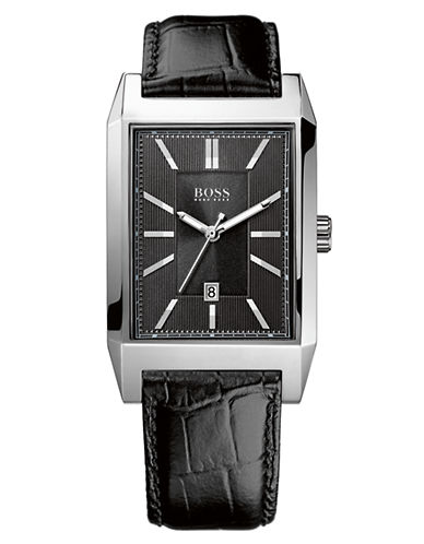 HUGO BOSSMen's Rectangular Stainless Steel Watch