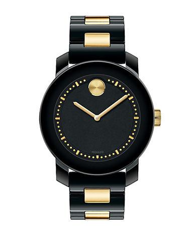 MOVADO BOLDLadies Black Ceramic Two-Tone Chronograph Watch