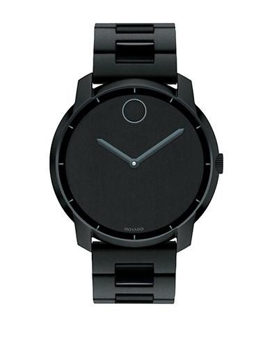 MOVADO BOLDLarge Round Matte Watch with Chain Link Bracelet Strap