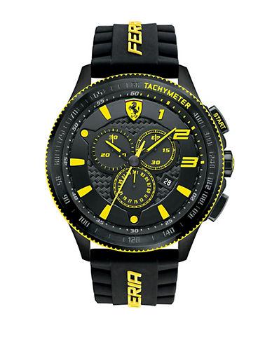 FERRARIMen's Scuderia XX Black & Yellow Watch