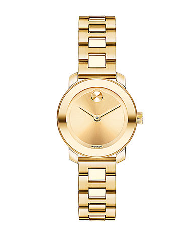 MOVADO BOLDLadies Gold Tone Stainless Steel Bracelet Watch