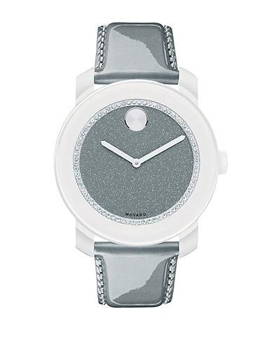 MOVADO BOLDLadies Bold White and Gray Glitz Watch