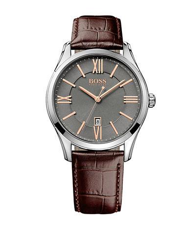 HUGO BOSSMens Ambassador Stainless Steel Watch