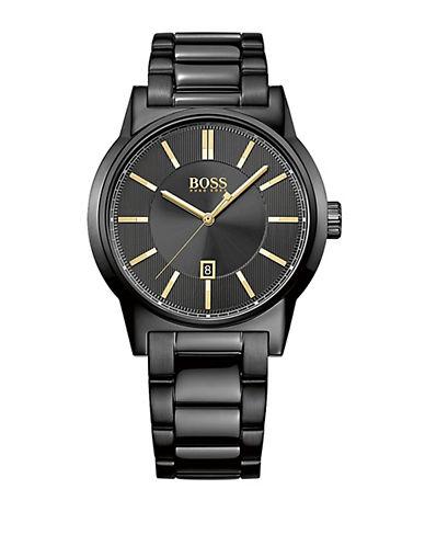 HUGO BOSSMens Architecture Black Link Bracelet Watch