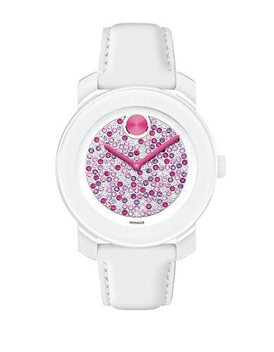 MOVADO BOLDLadies Bold White and Multi Glitz Watch