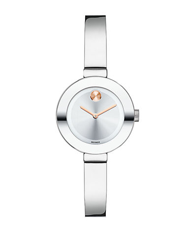 Movado Bold Ladies Small Stainless Steel Watch