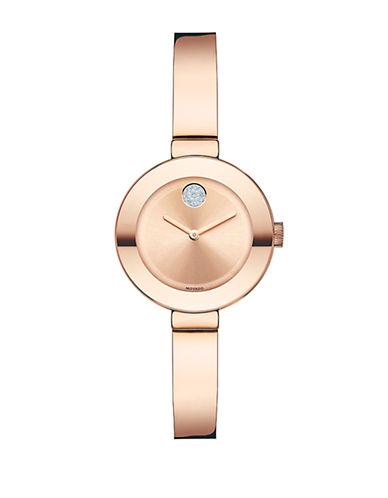 MOVADO BOLDLadies Small Rose Gold-Tone and Swarovski Crystal Watch