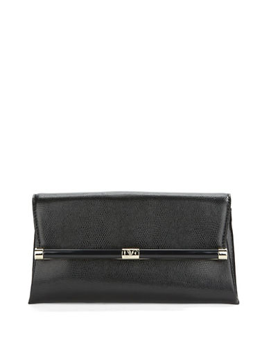 Dvf Embossed Lizard Leather Clutch