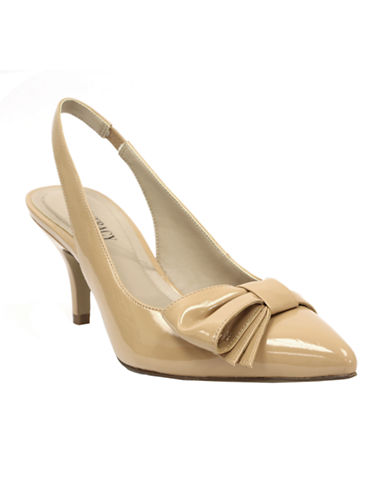 ELLEN TRACY Hillard Slingback Pumps with Bow Accent