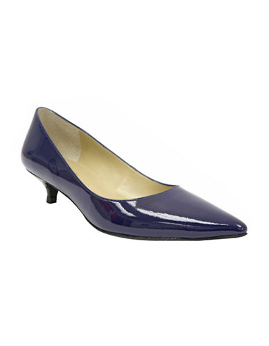 ELLEN TRACY Page Patent Leather Pointed-Toe Pumps