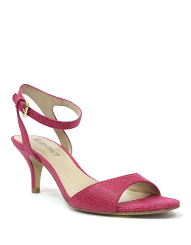 ELLEN TRACYEva Embossed Print Strappy Sandals