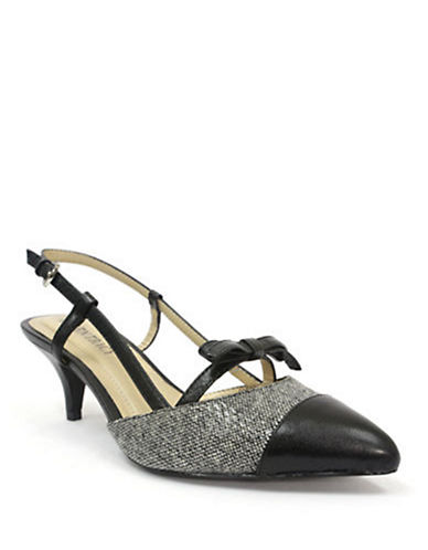 ELLEN TRACY Carlinn Leather Slingback Pumps
