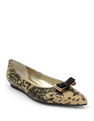 ELLEN TRACY Flora Faux Snake Printed Flats