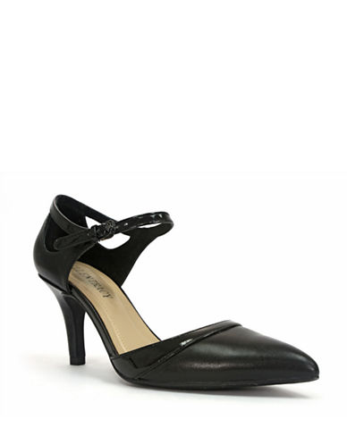 ELLEN TRACY Becca Leather and Patent Leather Pumps
