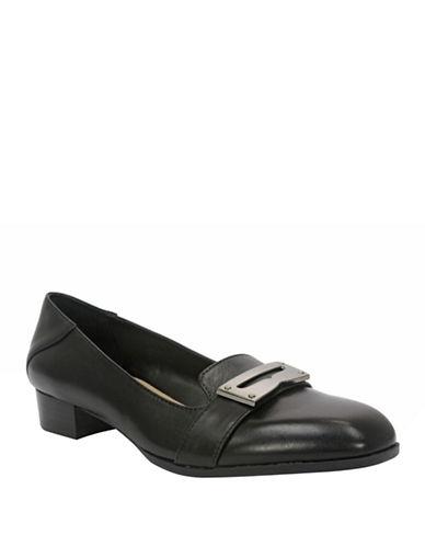 ELLEN TRACYVanity High-Heel Leather Loafers