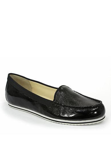 TAHARIEllie Leather Moc-Toe Flats