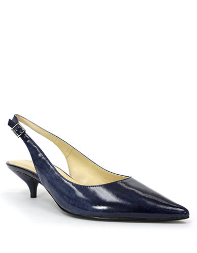 TAHARI Faye Splash Glass Patent Leather Slingback