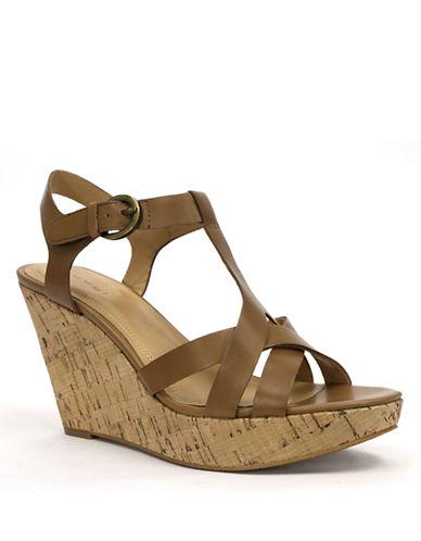 TAHARISarah Leather Sandal Wedges