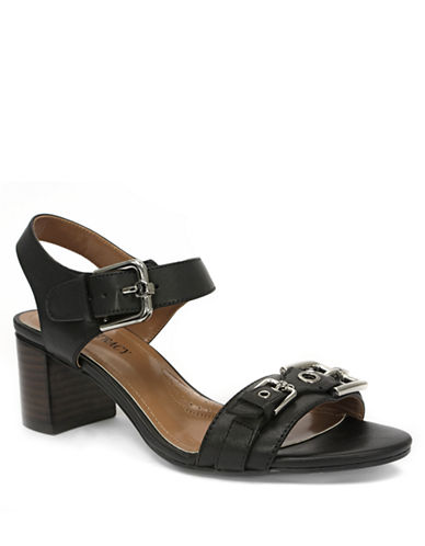 ELLEN TRACYCatalina High-Heel Leather Sandals