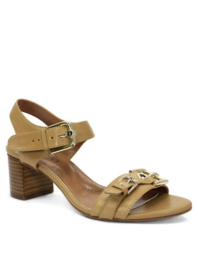 ELLEN TRACY Catalina High-Heel Leather Sandals