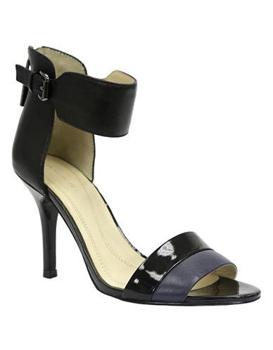TAHARILaura Leather Colorblock Open-Toe Sandals