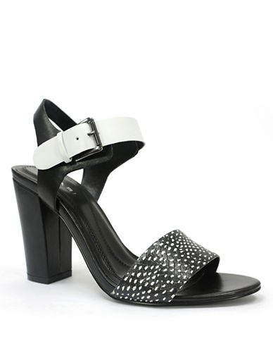 TAHARI Meg Leather Heeled Sandals