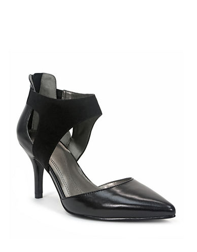 TAHARICorry Leather and Suede Pump