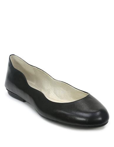 Tahari Venussia Leather Ballet Flats