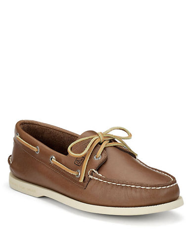 SPERRY TOP-SIDERA/O Two-Eye Leather Boat Shoes
