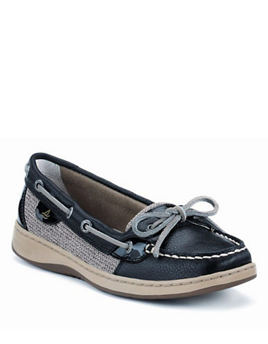 SPERRY TOP-SIDER Angelfish Leather and Mesh Boat Shoes