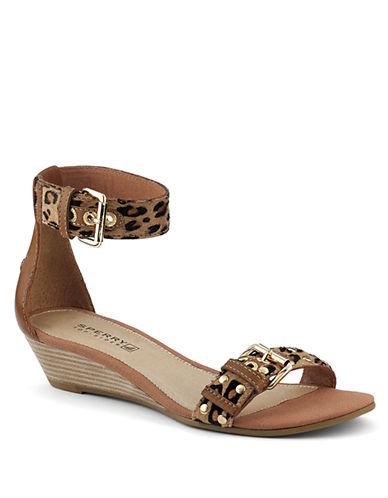 SPERRY TOP-SIDERLynnbrook Calf Hair Wedge Sandals