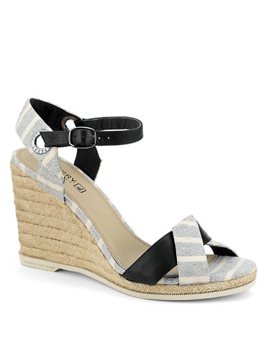 SPERRY TOP-SIDERSaylor Leather Espadrille Wedge Sandals