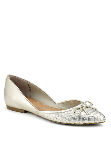 SPERRY TOP-SIDER Morgan Woven Leather Flats