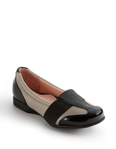 Taryn Rose Taurus Patent and Nappa Leather Loafers