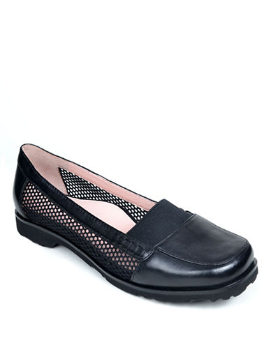 TARYN ROSE Jac Metallic Leather Loafers