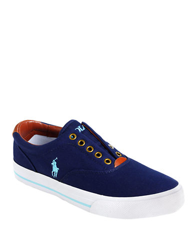 POLO RALPH LAUREN Vito Laceless Canvas Sneakers