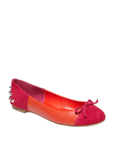 DV BY DOLCE VITA Zulu Suede and Faux Leather Color-Block Flats