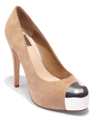 Balko Suede Cap Toe Pumps