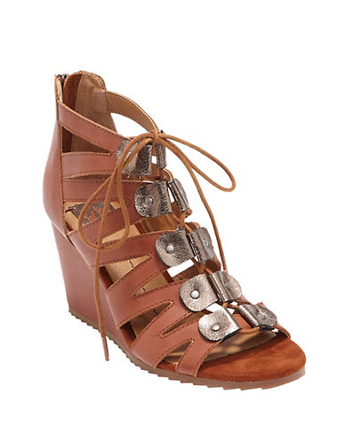Dolce Vita Rhoda Leather Wedge Sandals