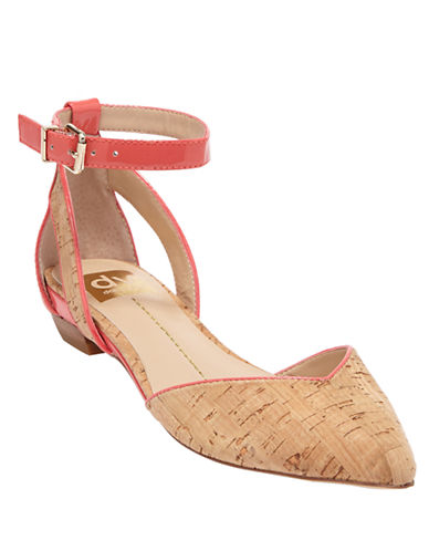 DV BY DOLCE VITAGari Cork and Patent Leather Flats