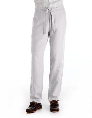 BLACK BROWN 1826Classic Fit Linen Pants