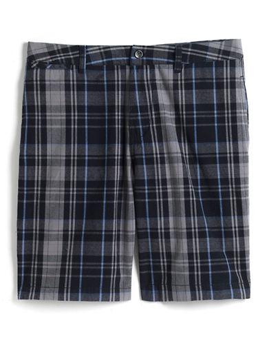 BLACK BROWN 1826Plaid Cotton Shorts