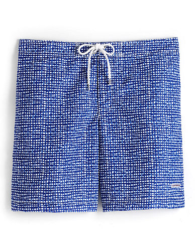 Checked Swim Trunks