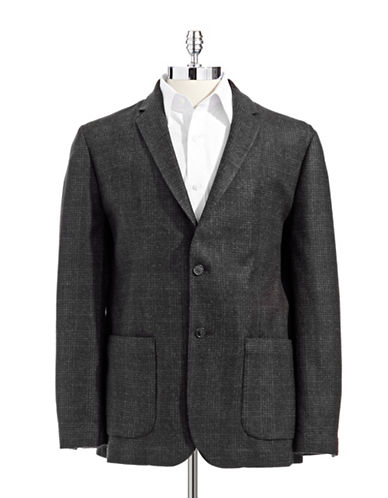 BLACK BROWN 1826 Wool Suit Jacket