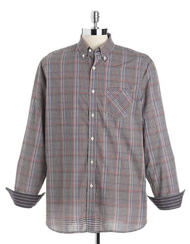 BLACK BROWN 1826 Checked Cotton Sport Shirt