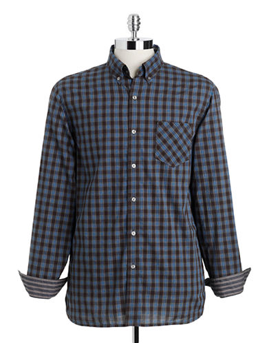 BLACK BROWN 1826 Checked Cotton Button-Down Shirt